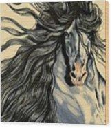 Blue Ice - Mustang Wood Print