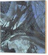 Blue Ice Pond 1  Wood Print