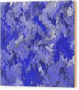 Blue Ice Wood Print