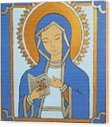 Blue Icon Wood Print