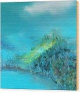 Blue Impressions Wood Print