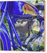 Blue Indian Wood Print