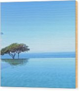 Blue Infinity Wood Print