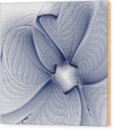 Blue Invert Wood Print