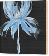 Blue Iris Bulb Wood Print