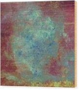 Blue Iron Texture Painting Wood Print