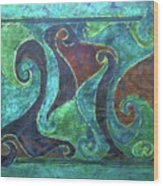 Blue Island Curves Wood Print