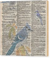 Blue Jay Expire Wood Print
