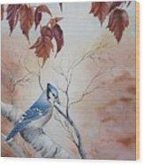 Blue Jay - Geai Bleu Wood Print