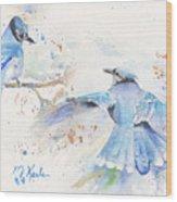 Blue Jays Wood Print