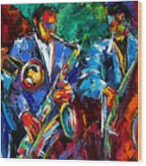 Blue Jazz Wood Print