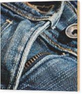 Blue Jeans Wood Print