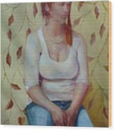 Blue Jeans Girl              Copyrighted Wood Print