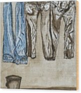 Blue Jeans. Wood Print