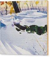 Blue Joy Wood Print