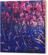 Blue Jungle Wood Print