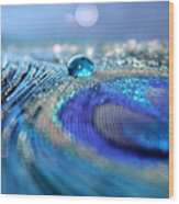 Blue Karma Wood Print