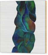 Blue Ladder Wood Print