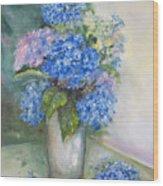 Blue Ladies Wood Print