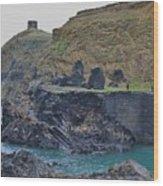 Blue Lagoon 2 Abereiddy Wales Wood Print