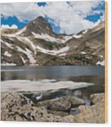 Blue Lake Colorado Wood Print