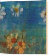 Blue Landscape In Oil Wood Print