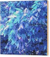 Blue Autumn  Wood Print