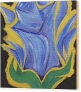 Blue Life Wood Print