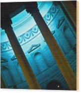 Blue Light Wood Print