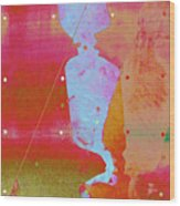 Blue Light Wood Print by Eileen Shahbazian