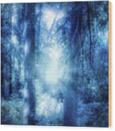 Blue Lights Wood Print