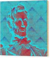 Blue Lincoln Wood Print