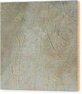 Blue Linear 1  Wood Print