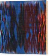 Blue Liquid Wood Print