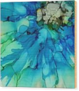 Blue Magnificence Wood Print