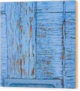 Blue Mail Wood Print