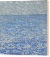 Blue Majesty Wood Print