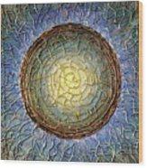 Blue Mandala Wood Print