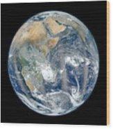 Blue Marble 2012 - Eastern Hemisphere Of Earth Wood Print