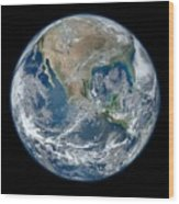 Blue Marble 2012 Planet Earth Wood Print