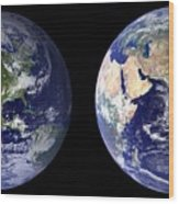 Blue Marble Composite Images Generated By Nasa Wood Print