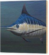 Blue Marlin Wood Print