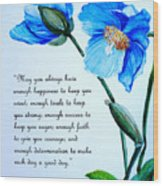 Blue Meconopsis Poppy Wood Print