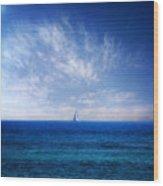 Blue Mediterranean Wood Print by Stelios Kleanthous