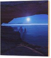 Blue Mesa Arch Wood Print