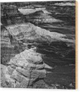Blue Mesa Outcrop Wood Print