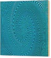 Blue Metal Spca Wood Print