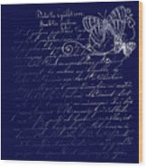 Blue Midnight Butterfly Wood Print