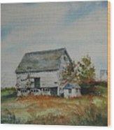 Blue Milkhouse Wood Print