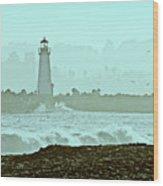 Blue Mist 2 Wood Print
